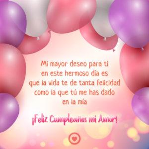 Frases De Felicitaciones De Cumpleaños Para Un Amor Top 2020